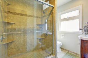 New bathroom glass shower